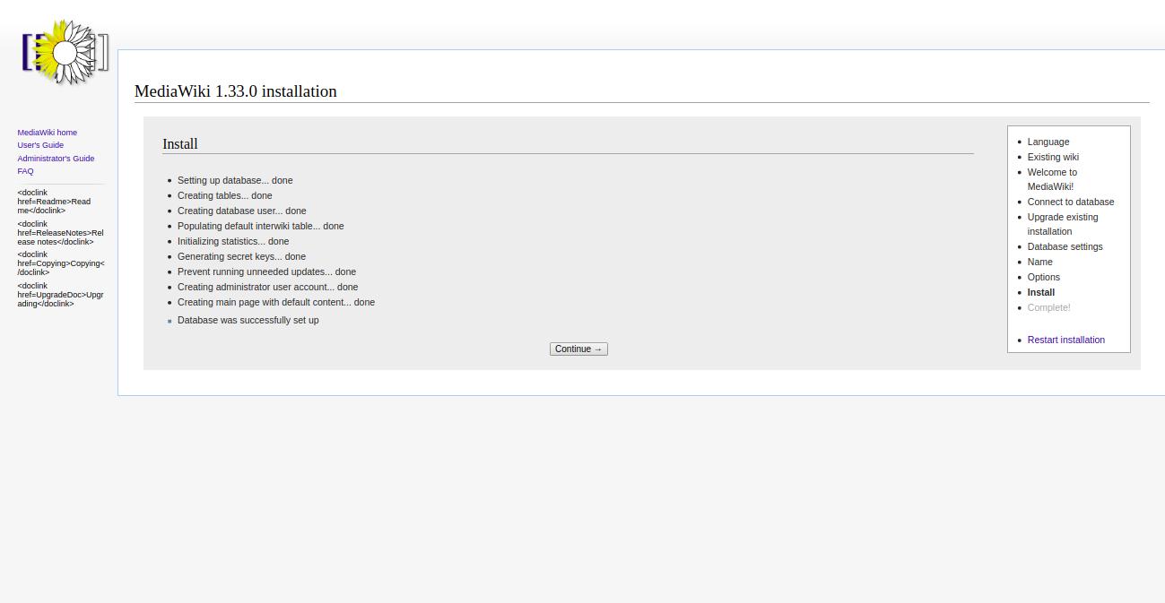 mediawiki-installation-continue