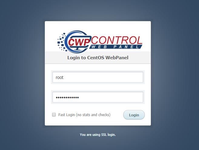 CWP Login Page