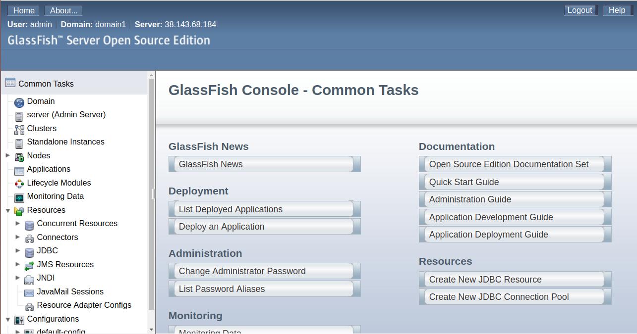 glassfish-admin-onsole