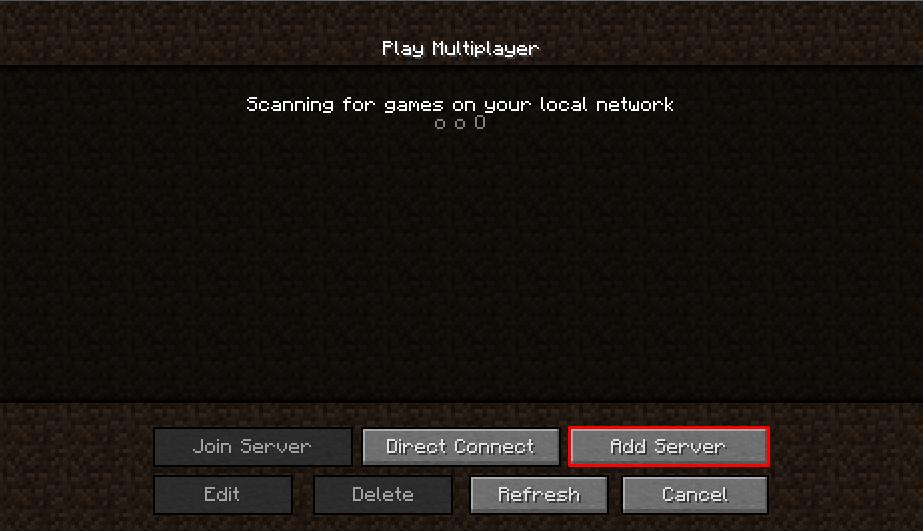 minecraft add server